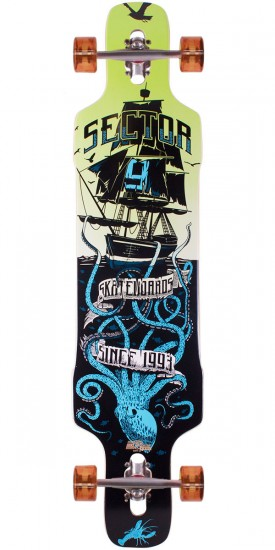 Sector 9 Dropper Longboard Complete - Blue 2014 - Scratched