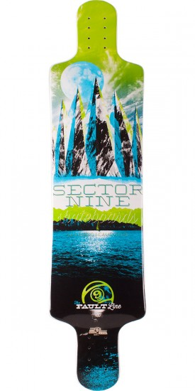 Sector 9 Faultline Longboard Deck - Green 2014 - Scratched
