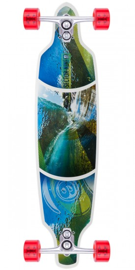 Sector 9 Fractal Longboard Complete - White
