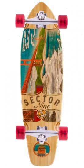 Sector 9 Ft. Point Shop Built Longboard Complete