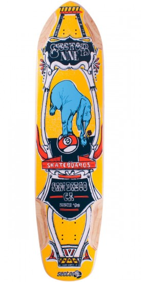 Sector 9 Mini Daisy Longboard Skateboard Deck 2014 - Yellow