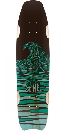 Sector 9 Shark Bite Longboard Deck - Blue