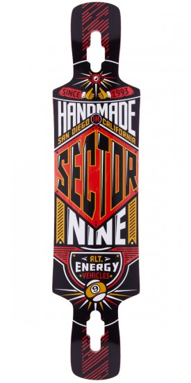 Sector 9 Slingshot Longboard Skateboard Deck - Red 2014