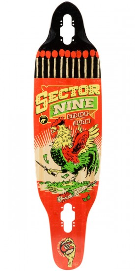 Sector 9 Striker Longboard Deck - Rasta