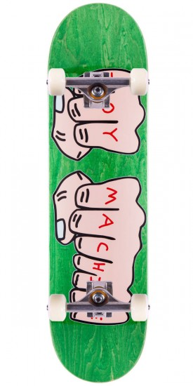 """Toy Machine Fists Skateboard Complete - Large - Green Stain - 8.25"""""""