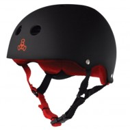 Triple Eight Brainsaver Skateboard Helmet - Black Rubber