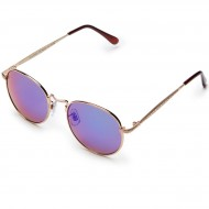 Happy Hour Holidaze Riley Hawk Sunglasses - Gold/Green Mirror