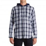 CCS Hooded Flannel Shirt - Burnside White