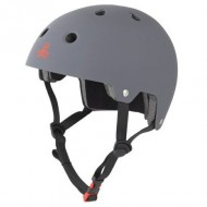 Triple Eight Brainsaver Dual Certified Skateboard Helmet - Gun Matte