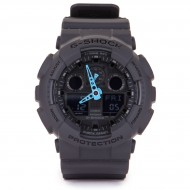 G-Shock GA-100 Neon Highlights Watch - Black/Neon Blue