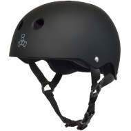 Triple Eight Brainsaver Skateboard Helmet - All Black Rubber