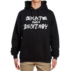 Thrasher Skate and Destroy Hoodie - Black