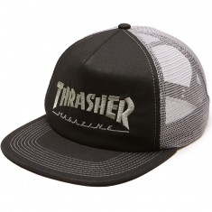 Thrasher Logo Mesh Hat - Black/Grey