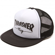 Thrasher Mag Logo Mesh Hat - White/Black