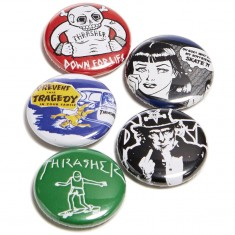 Thrasher Usual Suspects Buttons - 5 Pack