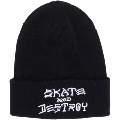Thrasher Sad Embroidered Beanie Beanie - Black