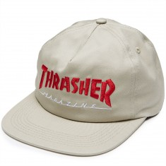 Thrasher Magazine Logo Two Tone Hat - Tan