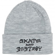 Thrasher Sad Embroidered Beanie Beanie - Grey
