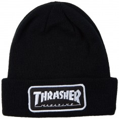 Thrasher Logo Patch Beanie - Black