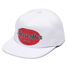 Thrasher Oval Snapback Hat - White