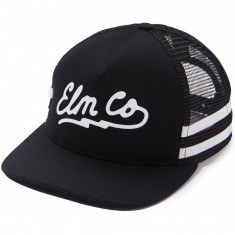 Elm Sage Trucker Hat - Black