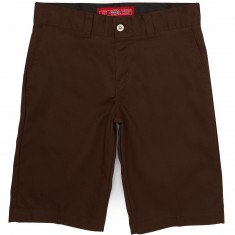 "Dickies '67 Slim Twill Work 11"" Shorts - Chocolate Brown"