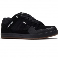 DVS Portal Shoes - Black Leather Nubuck