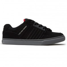 DVS Celsius CT Shoes - Black/Charcoal/Red Nubuck Deegan