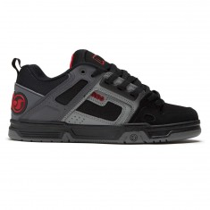 DVS Comanche Shoes - Black/Charcoal/Red Nubuck Deegan