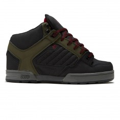 DVS Militia Boot Shoes - Olive/Black Leather Ferguson