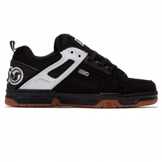 DVS Comanche Shoes - Black/White Leather Nubuck