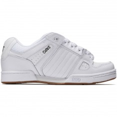 DVS Celsius Shoes - White/White Leather