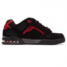 DVS Drone Plus Shoes - Black/Red Nubuck