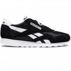 Reebok CL Nylon Shoes - Black/White