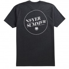 Never Summer Simple Dot T-Shirt - Charcoal Heather