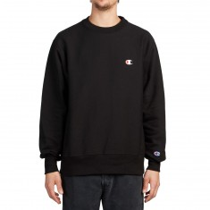 Champion Reverse Weave Crew Sweatshirt - Black