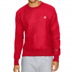 Champion Reverse Weave Crew Sweatshirt - Team Red Scarlet
