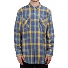 Pendleton Beach Shack Long Sleeve Twill Shirt - Washed Indigo/Ochre Plaid