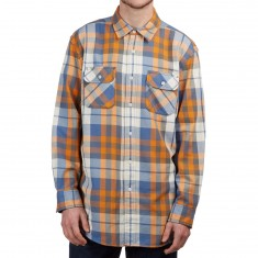 Pendleton Beach Shack Long Sleeve Twill Shirt - Blue/Orange Plaid