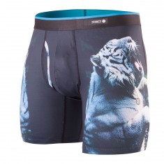Stance White Tiger Boxer Brief - Black