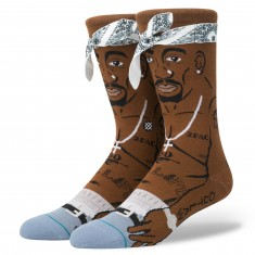 Stance Tupac V2 Socks - Brown