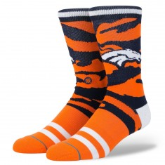 Stance Broncos Tigerstripe Socks - Orange