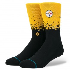 Stance Steelers Fade Socks - Yellow