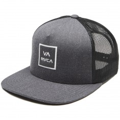 RVCA VA All The Way Trucker Hat - Charcoal Heather/Black