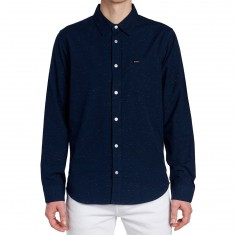RVCA Casey Long Sleeve Shirt - Federal Blue