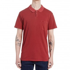 RVCA PTC Pigment Polo Shirt - Rosewood