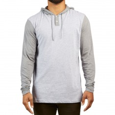 RVCA Pick Up Hooded Shirt - Athletic Heather