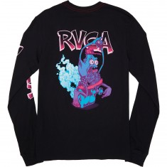 RVCA Hot Rod Long Sleeve T-Shirt - Black