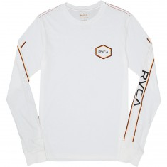 RVCA Triple Hex Long Sleeve T-Shirt - Antique White