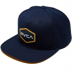 RVCA Commonwealth Snapback Hat - Dark Navy